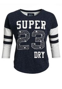 Superdry Football Lace Embroidery Top