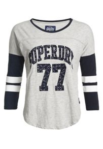 Superdry Lace Applique Varsity Top