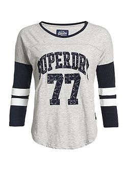 Lace Applique Varsity Top