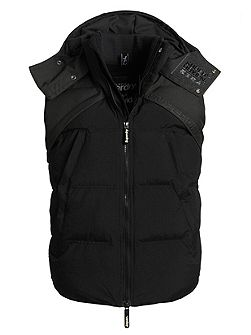 Hooded Wind Hybrid Gilet