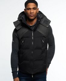 Superdry Hooded Wind Hybrid Gilet