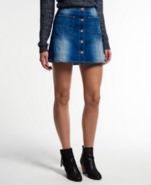Superdry 70`s Denim Skirt