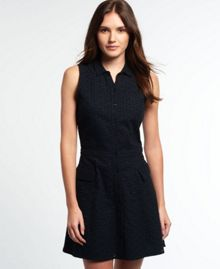 Superdry Broderie Utility Shirt Dress