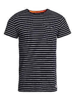 Lite Loomed Cut Curl Striped T-shirt