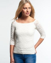 Superdry Essentials Off Shoulder Lace Top