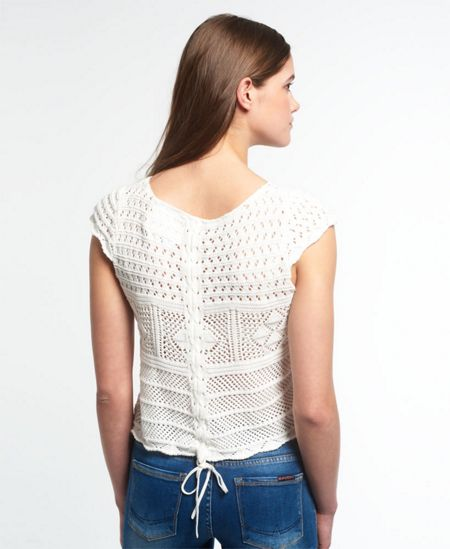 Superdry Alexis Crochet Knit Top
