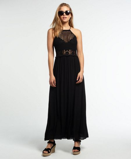 Superdry Isla Crochet Maxi Dress