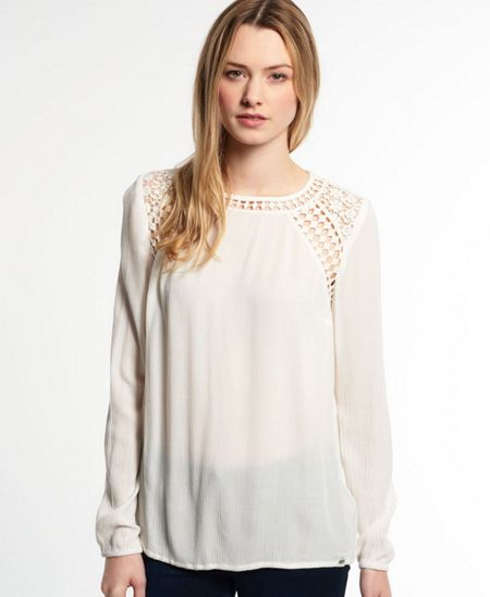 Superdry Diamond Edge Smock Top
