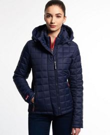 Hooded Box Quilt Fuji Jacket