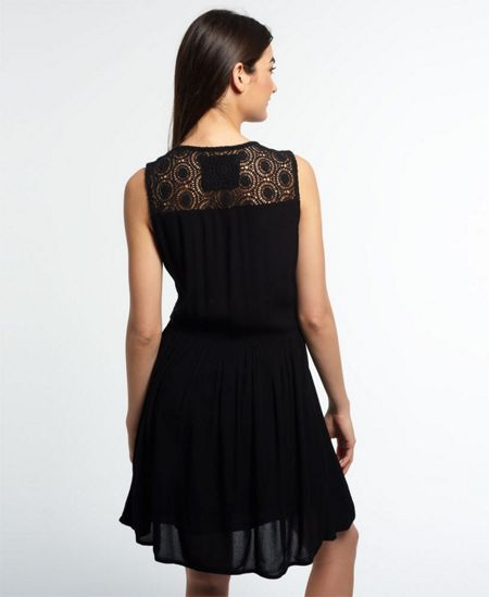 Superdry Sheer Lacy Sweep Dress