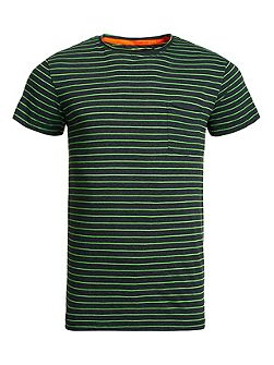 Lite loomed cut curl neon stripe t-shirt