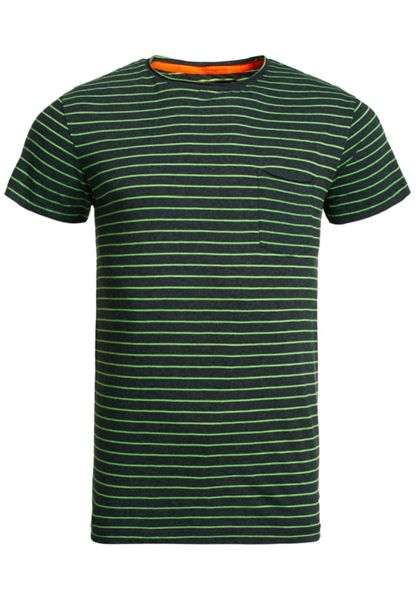 Superdry Lite loomed cut curl neon stripe t-shirt