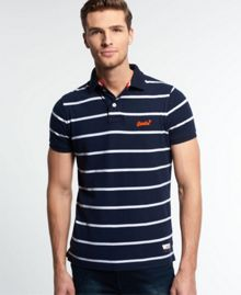 Superdry Miami Stripe Polo Shirt