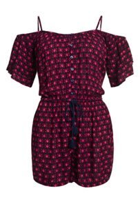 Superdry Peekaboo Print Playsuit