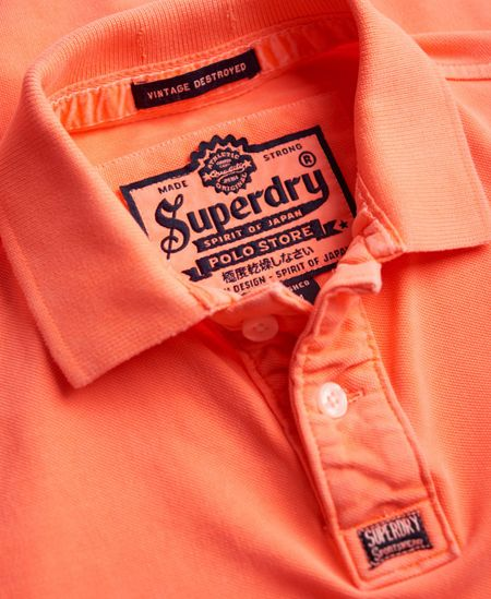 Superdry New Vintage Destroyed Pique Polo Shirt
