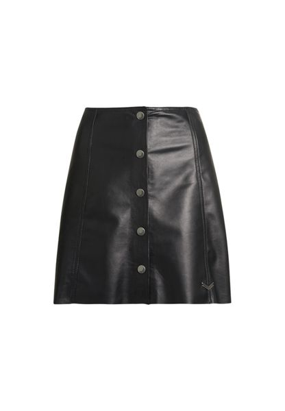 Superdry 70s Leather Button Through Skirt