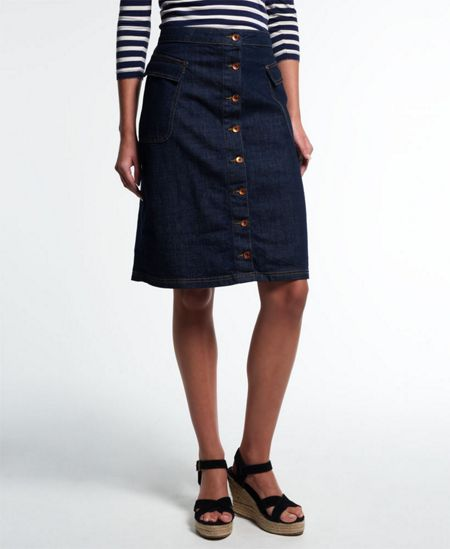 Superdry Button Down Midi Skirt