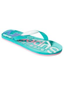 Superdry Scuba Logo Faded Flip Flops