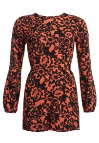 Superdry Gathered Bell Sleeve Playsuit