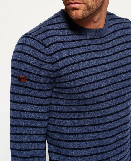Superdry Orange Label Stripe Crew Jumper