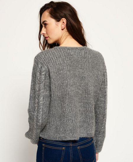 Superdry Bell Sleeve Mohair Cable Knit Jumper