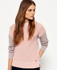 Superdry Colour Block Rib Knit Jumper