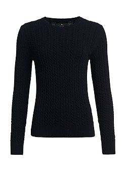Luxe Mini Cable Cashmere Jumper