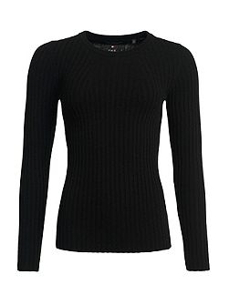 Luxe Wool Ribbed Knit Jumper