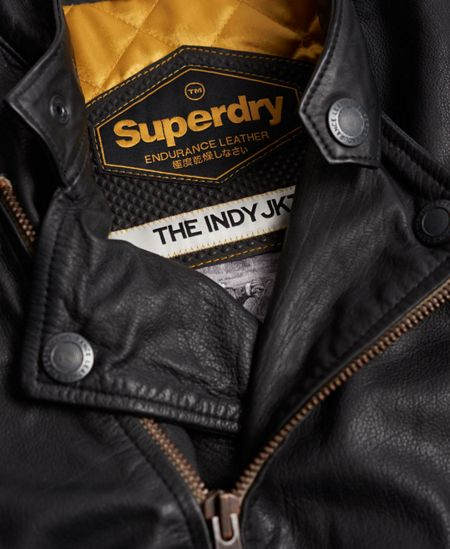 Superdry Endurance Indy Leather Jacket