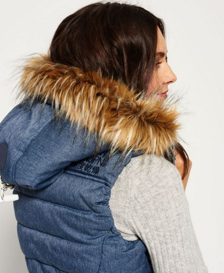 Superdry Marl Toggle Puffle Gilet