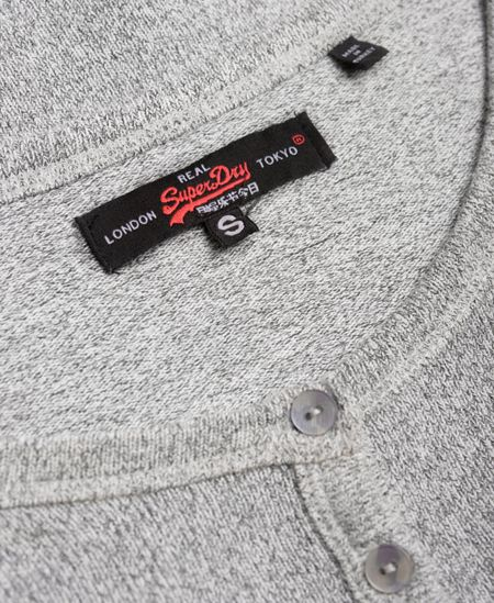 Superdry Slim Fit Knit Grandad Top
