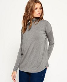 Superdry Slinky Mock Neck Top