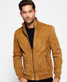Superdry Hutch Suede Bomber Jacket