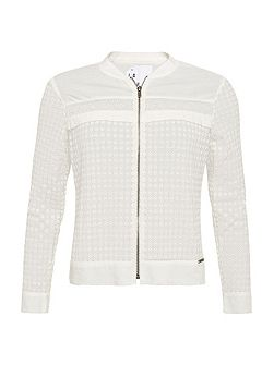 Analee Lacy Bomber Jacket