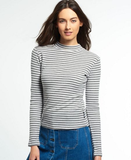 Superdry Mock Neck Rib Top