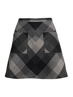 North Check Mini Skirt