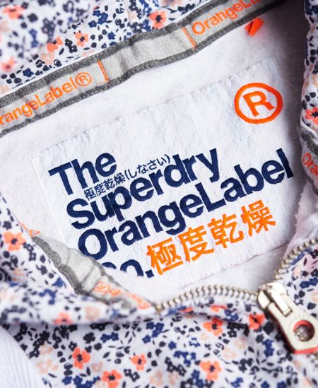 Superdry Orange Label All Over Print Zip Hoodie