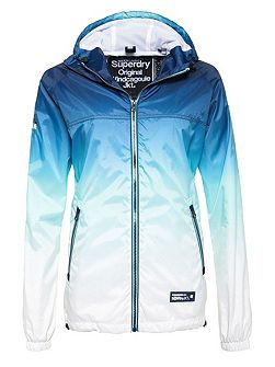 Tri Colour Zip Thru Spray Cagoule