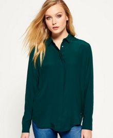 Superdry Premium Satin Boyfriend Shirt
