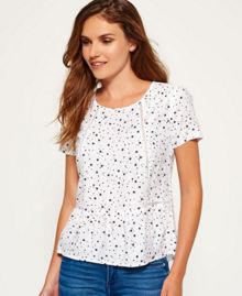 Superdry Claudie Print Top