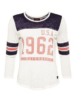 USA 1962 Burnout Varsity T-Shirt
