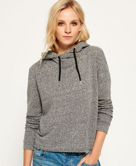 Superdry Orange Label Luxe Blackened Hoodie