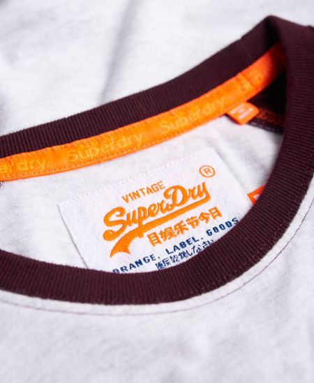 Superdry Orange Label Grit Baseball T-Shirt