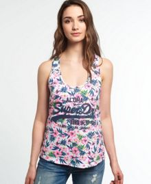 Superdry Vintage Logo Tropical Race Vest Top