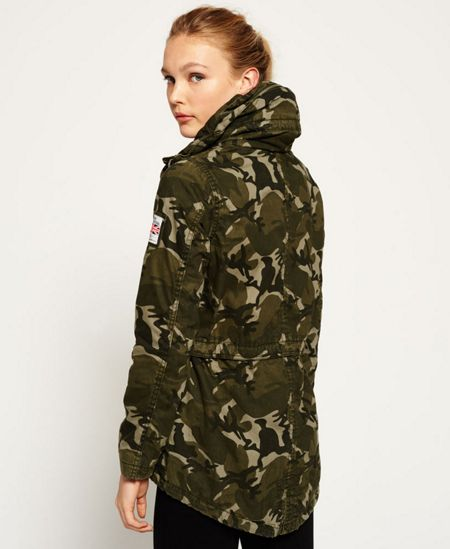Superdry Rookie Tall Collar Parka Jacket