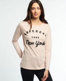 Superdry Applique Raglan Stripe T-shirt