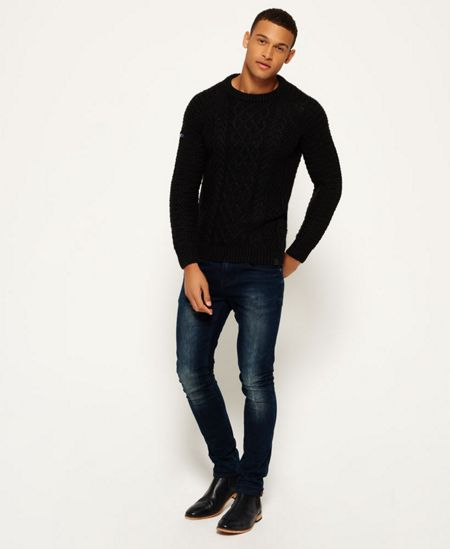 Superdry Columbus Cable Crew Jumper