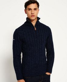 Superdry Jacob Fleck Rib Henley Top