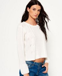 Superdry Bell Sleeve Mohair Cable Knit