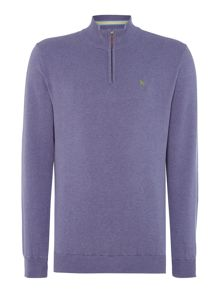 Magee Plain Half Zip Neck Pull Over Jumper